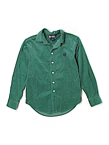 Chaps  Button Down, Long Sleeve 8-10